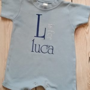 Baby Boy Clothes Baby Boy Monogram with Name Embroidered Romper