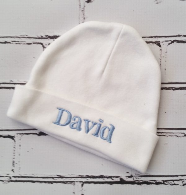 Baby Boy Coming Home Hat Personalized Embroidered Name on Hat