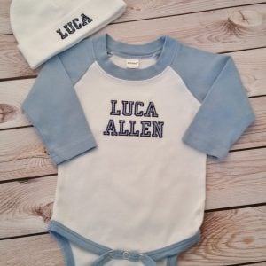 Baby Boy Coming Home Outfit Newborn Baby Boy Hat Personalized Outfit Baby Boy Gift Baby Boy Clothes