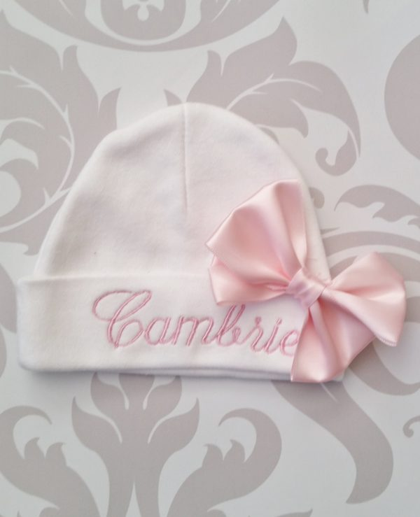 Baby Girl Coming Home Hat Personalized Embroidered Name on Hat