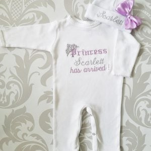 Baby Girl Coming Home Outfit Monogrammed Baby Girl Princess Newborn Baby Girl Outfit Personalized Baby Girl Gift Baby Girl Take Home Outfit