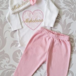 Baby Girl Coming Home Outfit Newborn Baby Girl Personalized Outfit Baby Girl Gift Baby Girl Take Home Outfit