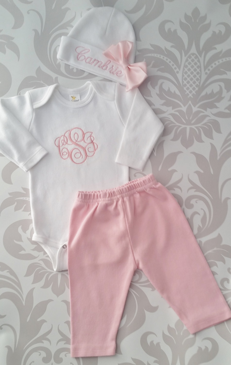 dabd223d879e0 Baby Girl Coming Home Outfit Newborn Baby Girl Personalized Outfit Baby Girl  Gift Baby Girl Take