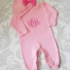 1d992d1f2 Baby Girl Coming Home Outfit Newborn Baby Girl Personalized Sleeper Romper Baby  Girl Gift ...