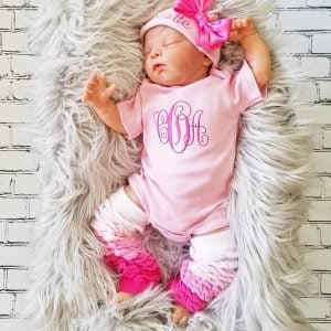 c31c9848d802a ... Baby Girl Coming Home Outfit Personalized Baby Girl Monogrammed Baby  Girl Gift Newborn Baby Girl Baby