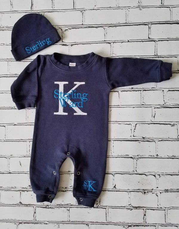 Newborn Boy Outfit Baby Boy Coming Home Outfit Monogrammed Baby Boy Personalized Baby Gift