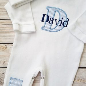 Newborn Boy Outfit Baby Boy Coming Home Outfit Personalized Baby Boy Baby Boy Gift Monogrammed Baby Boy