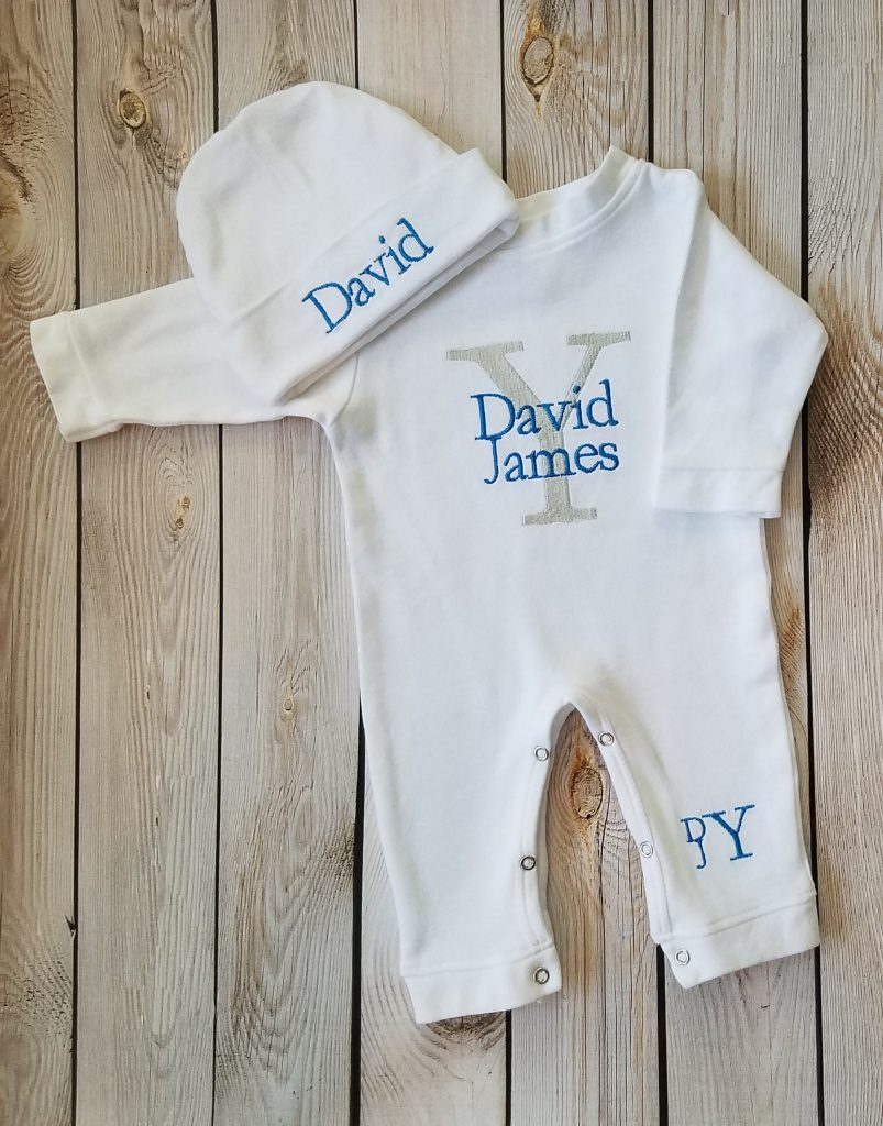 Personalized Baby Boy Outfit With Cap - Lollipop Kids Designs
