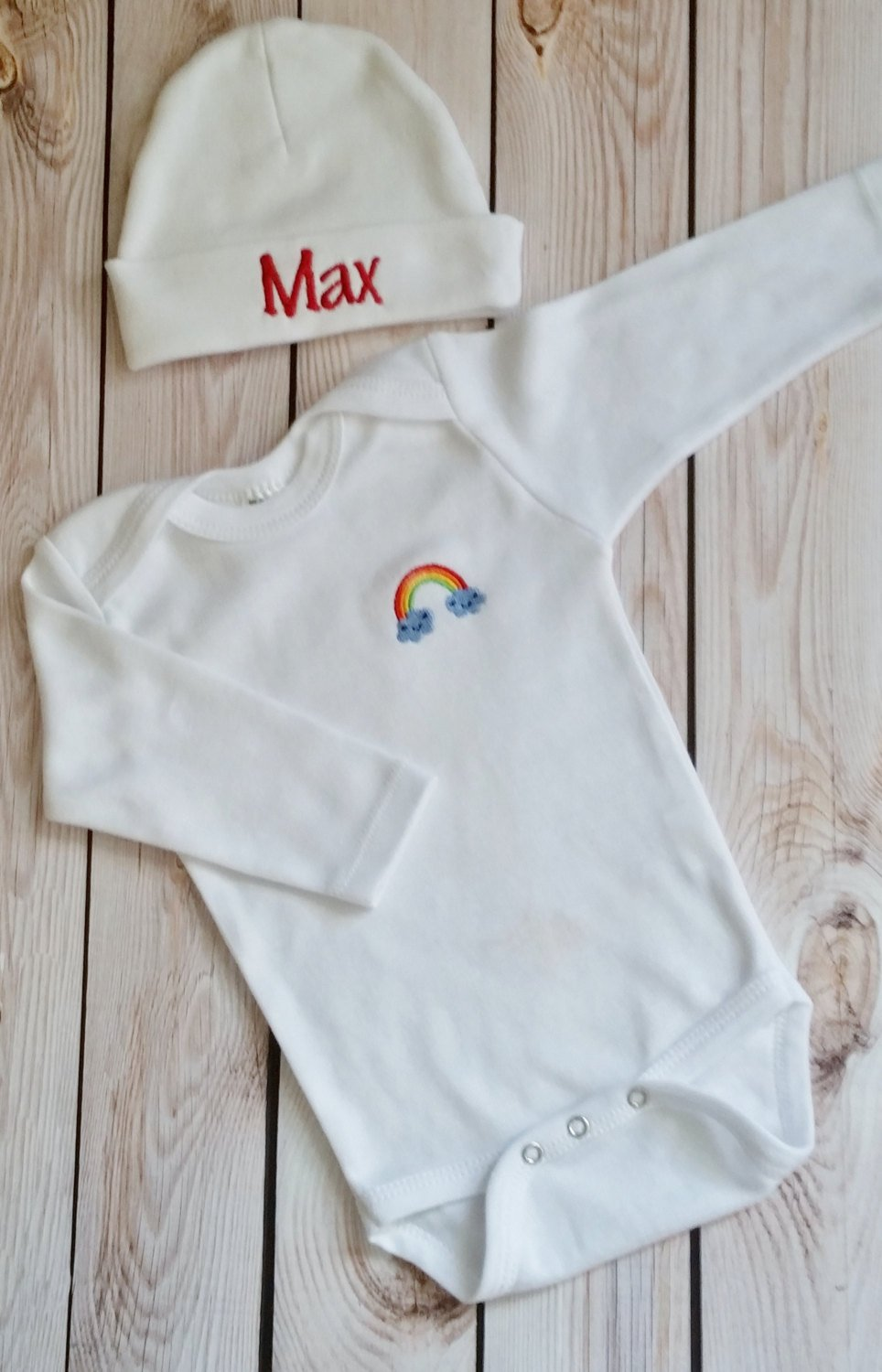 Newborn Coming Home Outfit 0-3 Month Baby Gown Rainbow Baby Rainbow Baby Clothing