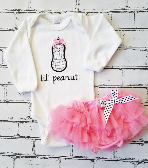 Baby Girl Coming Home Outfit Baby Girl Little Peanut Baby Girl Tutu Baby Girl Gift  Baby Girl Outfit Embroidered Baby Girl