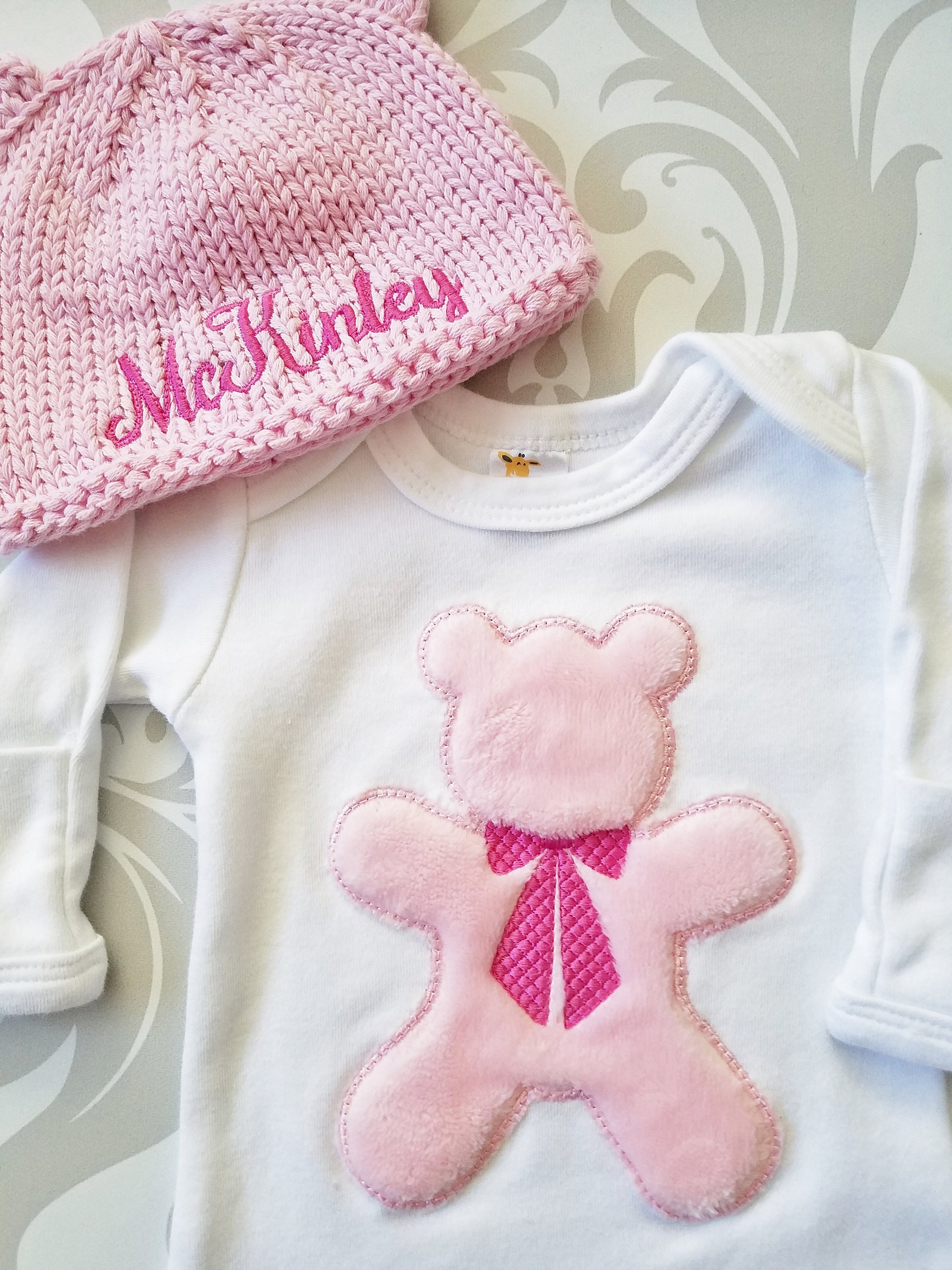 Teddy Bear Gown Set - Lollipop Kids Designs