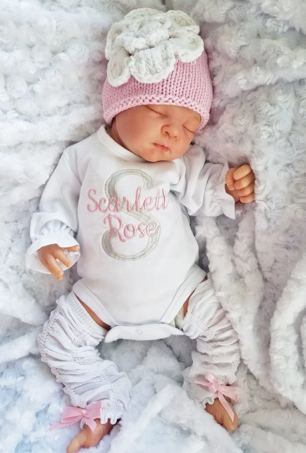 Baby Girl Coming Home Outfit Newborn Baby Girl Personalized Bodysuit Set Baby Girl Gift