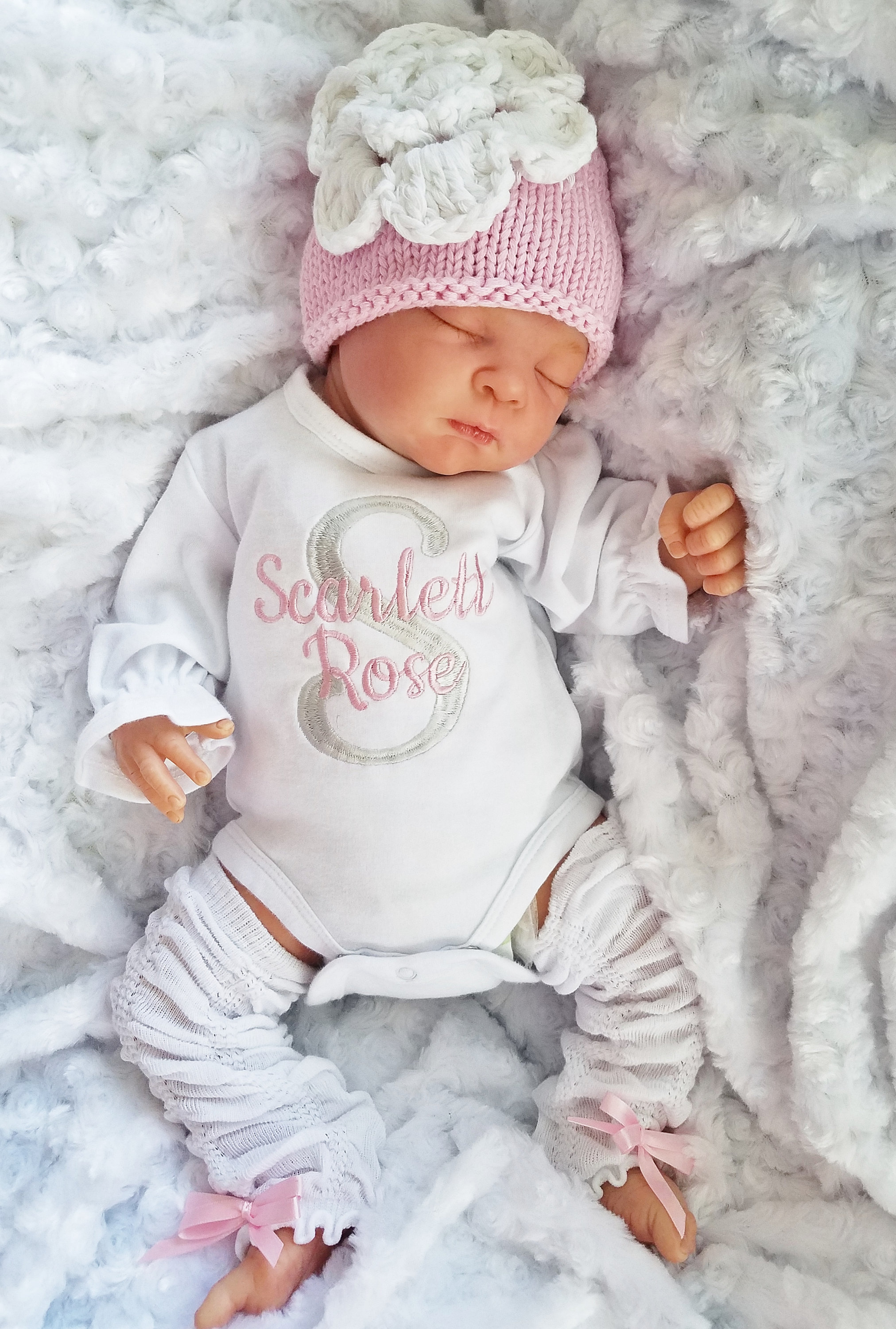 623f05c47ccee Baby Girl Coming Home Outfit Newborn Baby Girl Personalized Bodysuit Set Baby  Girl Gift