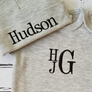 Baby Boy Coming Home Outfit Monogrammed Baby Boy Outfit Newborn Baby Boy Personalized Baby Gift Embroidered Baby Boy Take Home Outfit