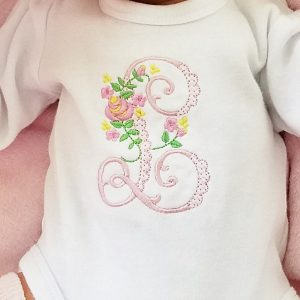 Baby Girl Coming Home Outfit, Floral Baby Girl Outfit, Personalized Bodysuit Set Baby Girl Gift