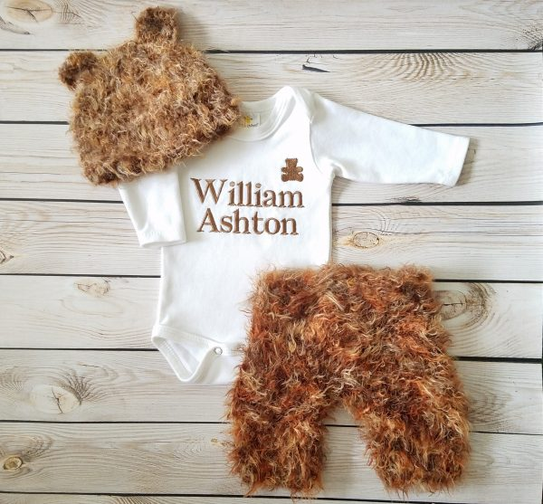 Baby Boy Coming Home Outfit, Baby Bear Outfit