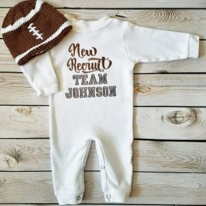 Baby Boy Coming Home Outfit, Baby Football Oufit, Baby Boy Gift